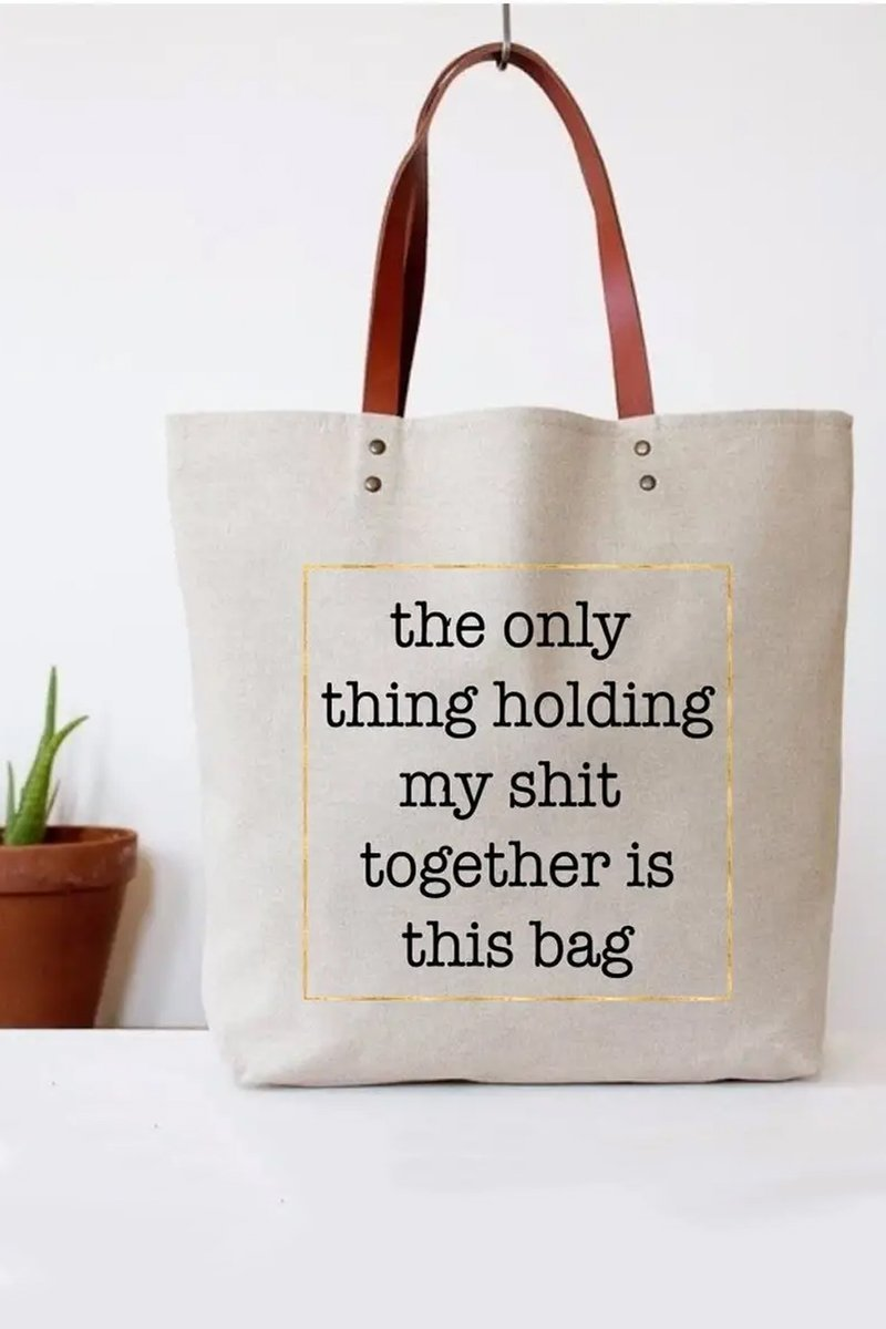 funny tote, funny bag, gift for friend, busy person gift, women's totes, coworker gift, women coworker gift, mom christmas gift, friend christmas gift, satire gift