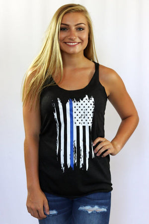 Thin Blue Line Graphic Tank