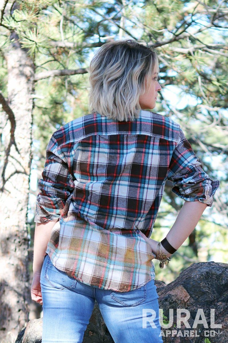 Autumn Distressed Flannel Shirt