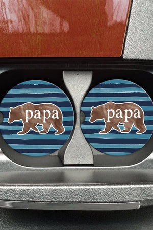 Papa Bear Car Coaster
