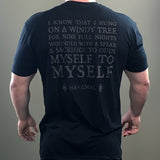 Sacrifice T-Shirt with Havamal / Odin Quote - Black