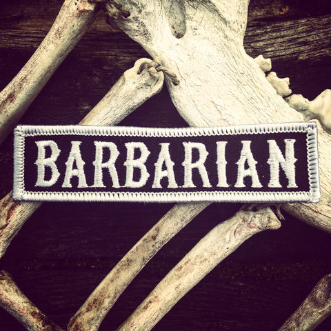 BARBARIAN PATCH - BLACK/WHYTE