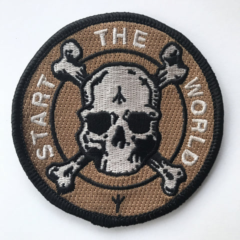 """START THE WORLD"" Patch (New Coyote Brown)"