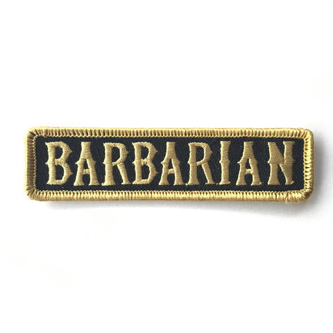 BARBARIAN PATCH - Old Gold