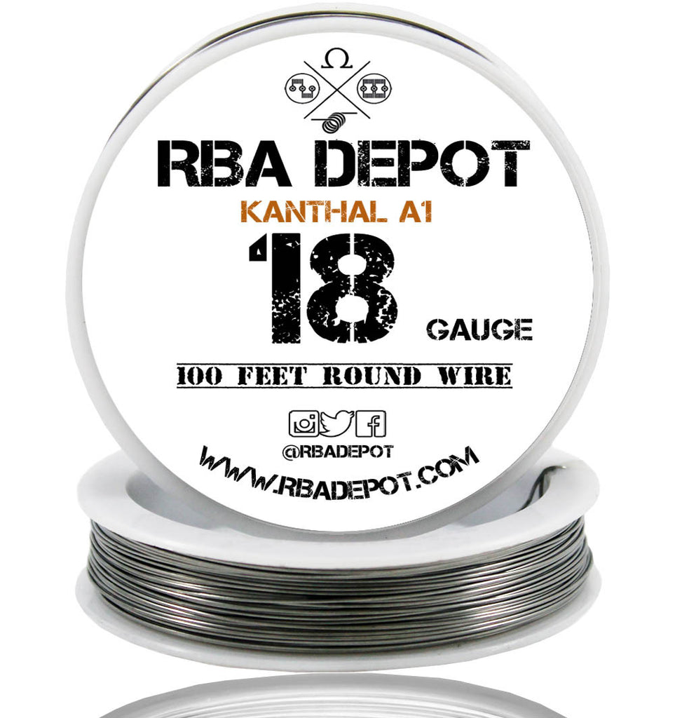 18 Gauge AWG Premium Kanthal Wire Alloy A1 Resistance Wire 1.02mm Roll - RBA Depot - 1