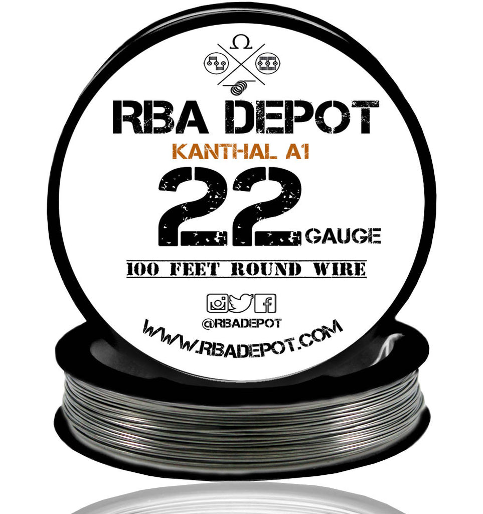 22 Gauge AWG Premium Kanthal Wire A1 Alloy Resistance Wire 0.64mm Roll - RBA Depot - 3