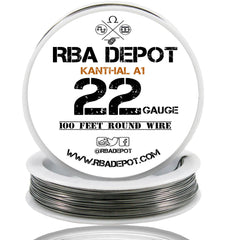 22 Gauge AWG Premium Kanthal Wire A1 Alloy Resistance Wire 0.64mm Roll - RBA Depot - 1