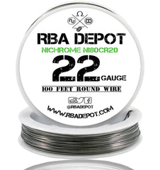 22 Gauge AWG Nichrome 80 Ni80Cr20 Competition Resistance Wire - RBA Depot - 1