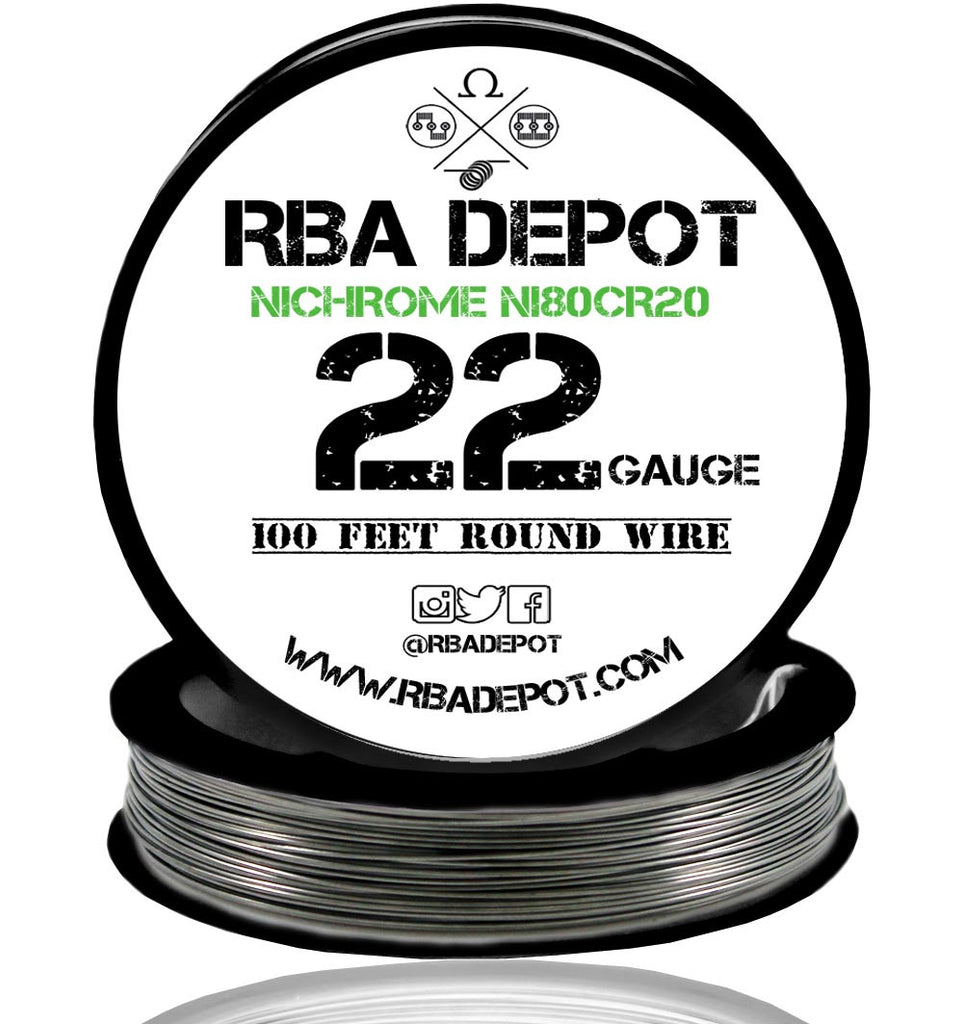 22 Gauge AWG Nichrome 80 Ni80Cr20 Competition Resistance Wire - RBA Depot - 2