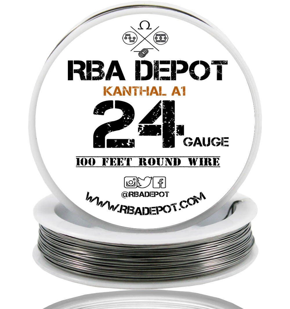 24 gauge awg premium kanthal wire alloy a1 resistance wire 051mm 24 gauge awg premium kanthal wire alloy a1 resistance wire 051mm roll rba depot greentooth Image collections