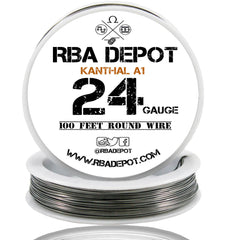 24 Gauge AWG Premium Kanthal Wire Alloy A1 Resistance Wire 0.51mm Roll - RBA Depot - 1