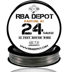 24 Gauge AWG Premium Kanthal Wire Alloy A1 Resistance Wire 0.51mm Roll - RBA Depot - 5