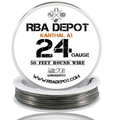 24 Gauge AWG Premium Kanthal Wire Alloy A1 Resistance Wire 0.51mm Roll - RBA Depot - 2