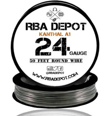 24 Gauge AWG Premium Kanthal Wire Alloy A1 Resistance Wire 0.51mm Roll - RBA Depot - 4
