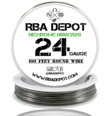 24 Gauge AWG Nichrome 80 Ni80Cr20 Competition Resistance Wire - RBA Depot - 1
