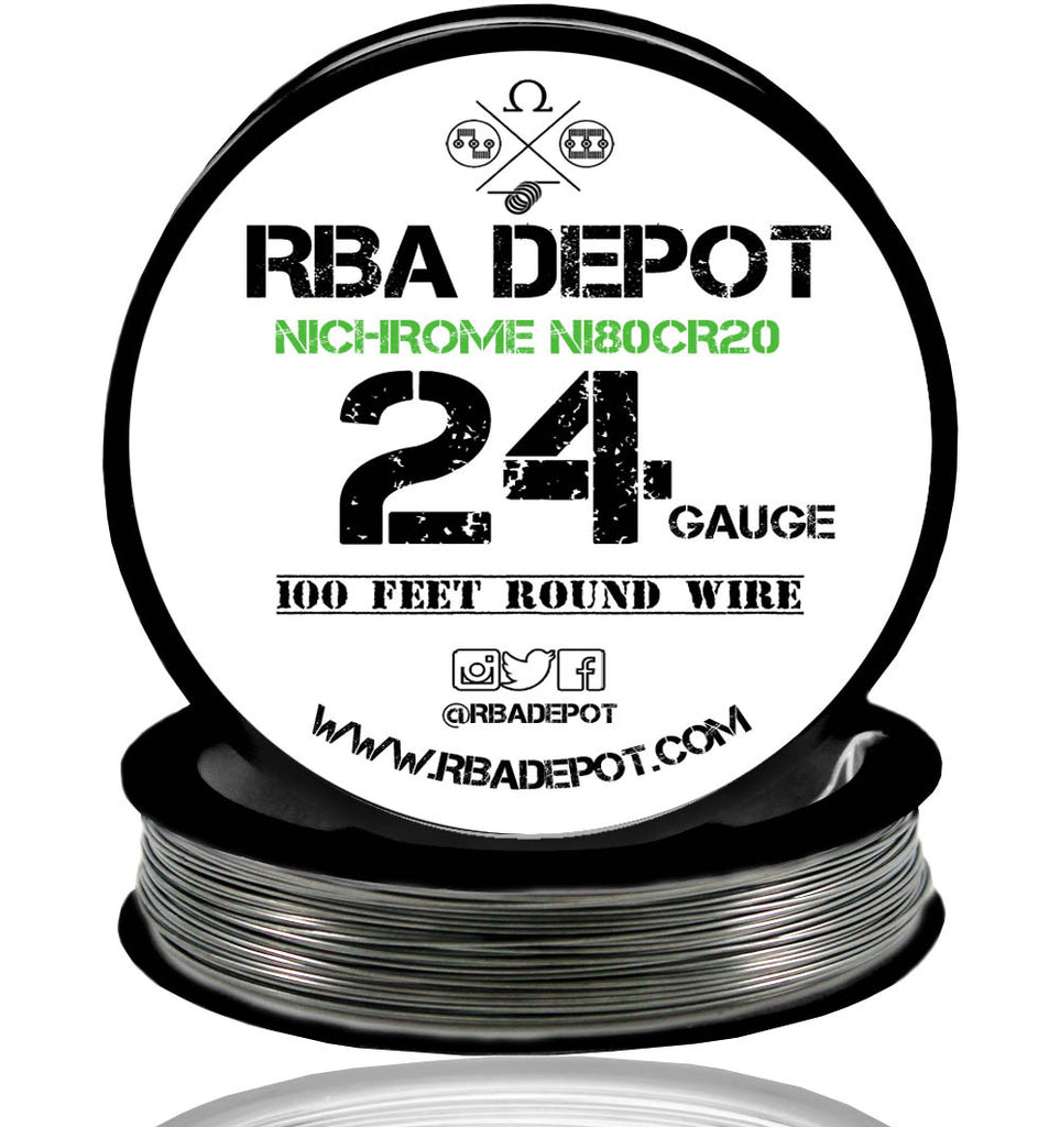 24 Gauge AWG Nichrome 80 Ni80Cr20 Competition Resistance Wire - RBA Depot - 2