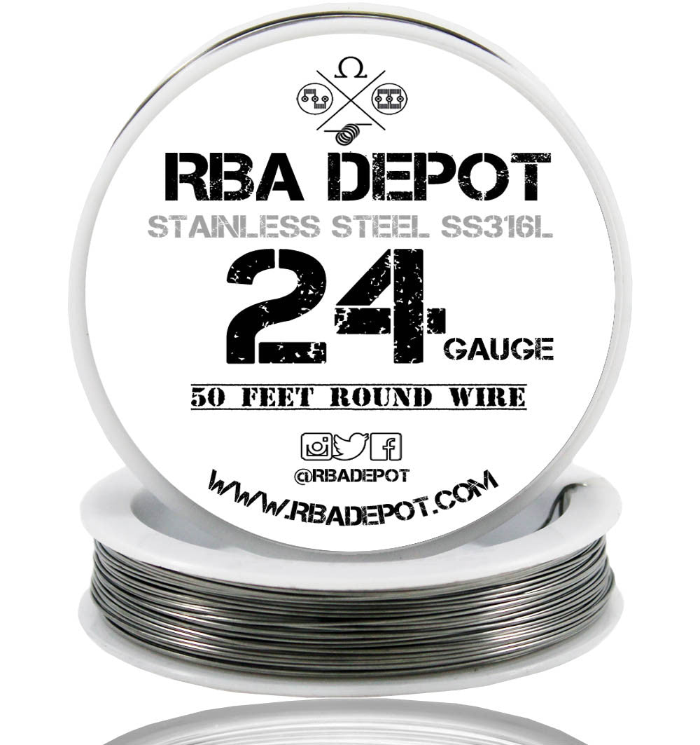 24 Gauge AWG Premium Stainless Steel SS316L Wire | RBA Depot