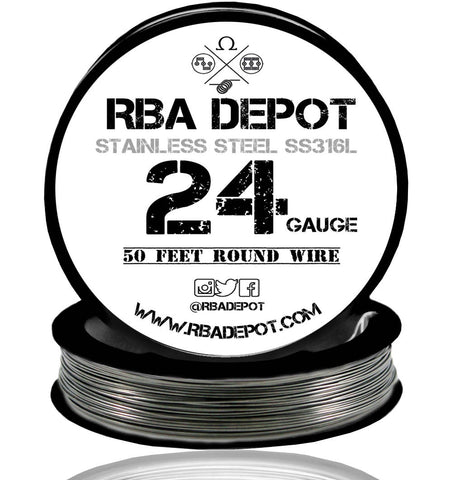 24 Gauge AWG Premium Stainless Steel SS316L Wire