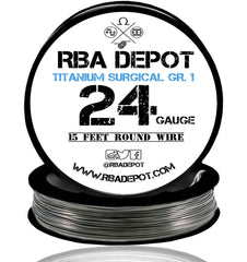 24 Gauge AWG Titanium Wire Surgical Grade 1 [99.5%] 0.51mm Roll - RBA Depot - 3