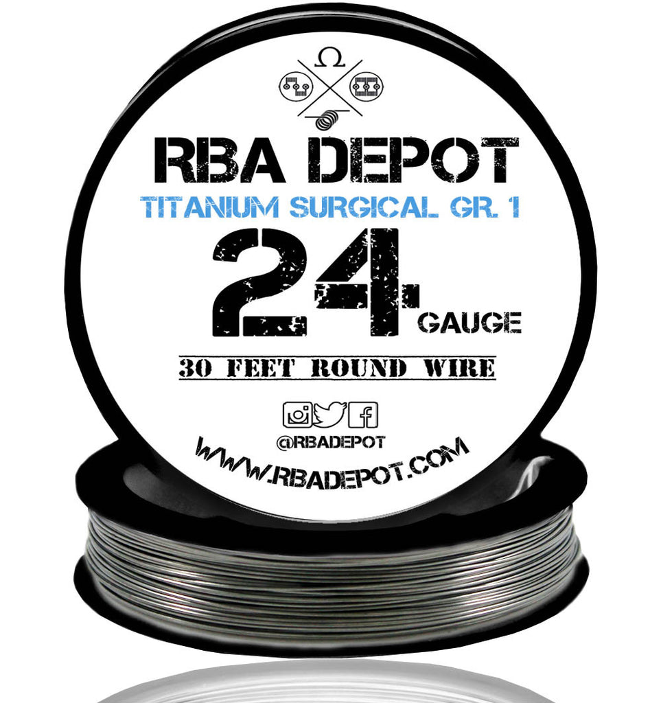 24 Gauge AWG Titanium Wire Surgical Grade 1 [99.5%] 0.51mm Roll - RBA Depot - 2