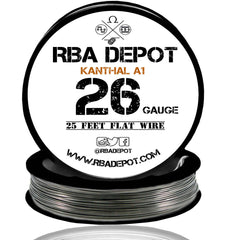 26 Gauge AWG Premium Kathal Flat Ribbon Wire A1 Resistance Wire 0.40mm Roll - RBA Depot - 5