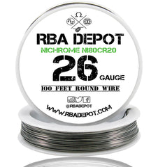 26 Gauge AWG Nichrome 80 Ni80Cr20 Competition Resistance Wire Roll - RBA Depot - 1