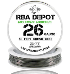26 Gauge AWG Nichrome 80 Ni80Cr20 Competition Resistance Wire Roll - RBA Depot - 4