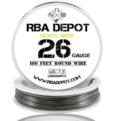 26 Gauge AWG Pure Nickel 201 Ni201 Competition NON RESISTANCE Roll - RBA Depot - 1