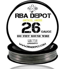 26 Gauge AWG Pure Nickel 201 Ni201 Competition NON RESISTANCE Roll - RBA Depot - 2