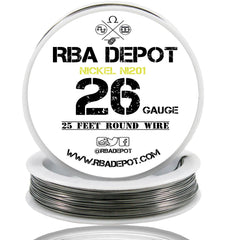 26 Gauge AWG Pure Nickel 201 Ni201 Competition NON RESISTANCE Roll - RBA Depot - 6
