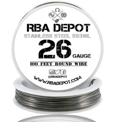 26 Gauge AWG Premium Stainless Steel SS316L Wire - RBA Depot - 2