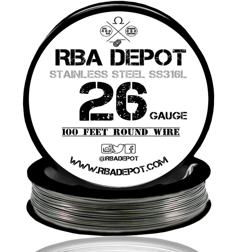 26 Gauge AWG Premium Stainless Steel SS316L Wire - RBA Depot - 1
