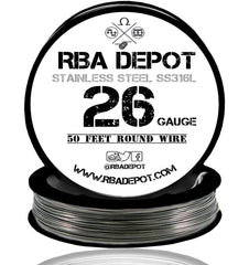 26 Gauge AWG Premium Stainless Steel SS316L Wire - RBA Depot - 3