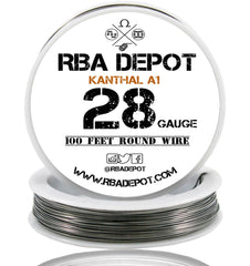 28 Gauge AWG Premium Kanthal Wire A1 Resistance Wire 0.32mm Roll - RBA Depot - 1