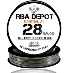 28 Gauge AWG Premium Kanthal Wire A1 Resistance Wire 0.32mm Roll - RBA Depot - 2