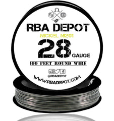 28 Gauge AWG Pure Nickel 201 Ni201 Competition NON RESISTANCE Roll - RBA Depot - 2