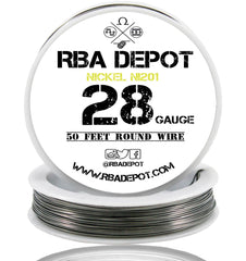 28 Gauge AWG Pure Nickel 201 Ni201 Competition NON RESISTANCE Roll - RBA Depot - 5