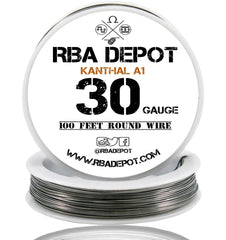 30 Gauge AWG Premium Kanthal Wire Alloy A1 Resistance Wire 0.25mm Roll - RBA Depot - 1