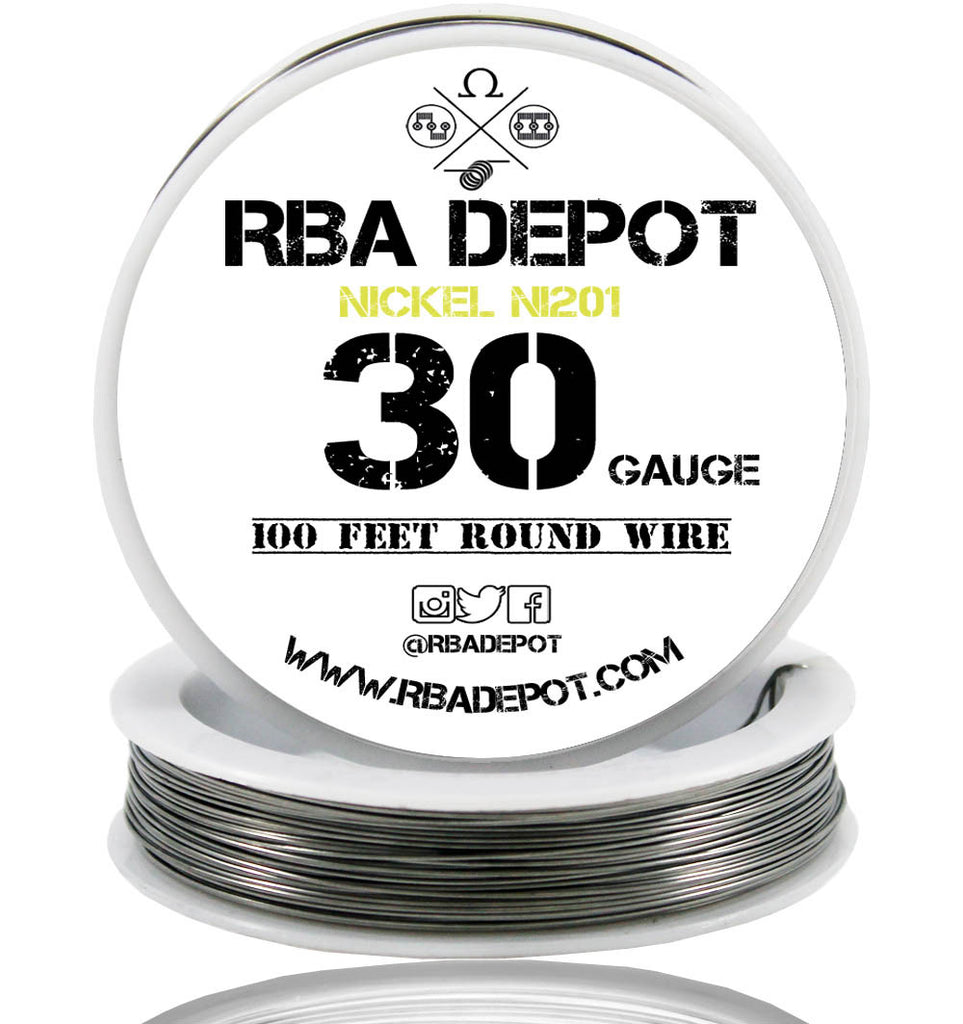 30 Gauge AWG Pure Nickel 201 Ni201 Competition NON RESISTANCE Roll - RBA Depot - 1