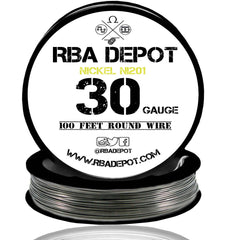 30 Gauge AWG Pure Nickel 201 Ni201 Competition NON RESISTANCE Roll - RBA Depot - 2