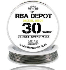 30 Gauge AWG Pure Nickel 201 Ni201 Competition NON RESISTANCE Roll - RBA Depot - 6
