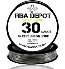 30 Gauge AWG Pure Nickel 201 Ni201 Competition NON RESISTANCE Roll - RBA Depot - 4