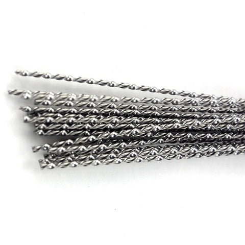 Specialty Wire - Premium Mix Twisted Wire Rod [NICHROME 0.2*1.0 + KANTHAL 26 GAUGE] (10 Pcs)