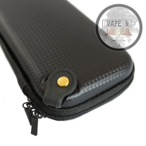 Black Carbon Fiber Design Pattern Hard Carrying Case for Mods and Accessories
