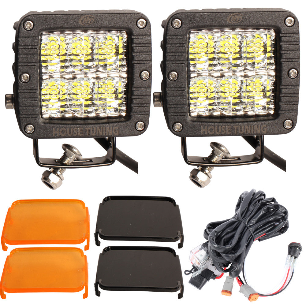 House Tuning 30w 3inch Diffused Flood Beam Cree Led Cube Driving Lighting Wiring Diagram Light With Switch