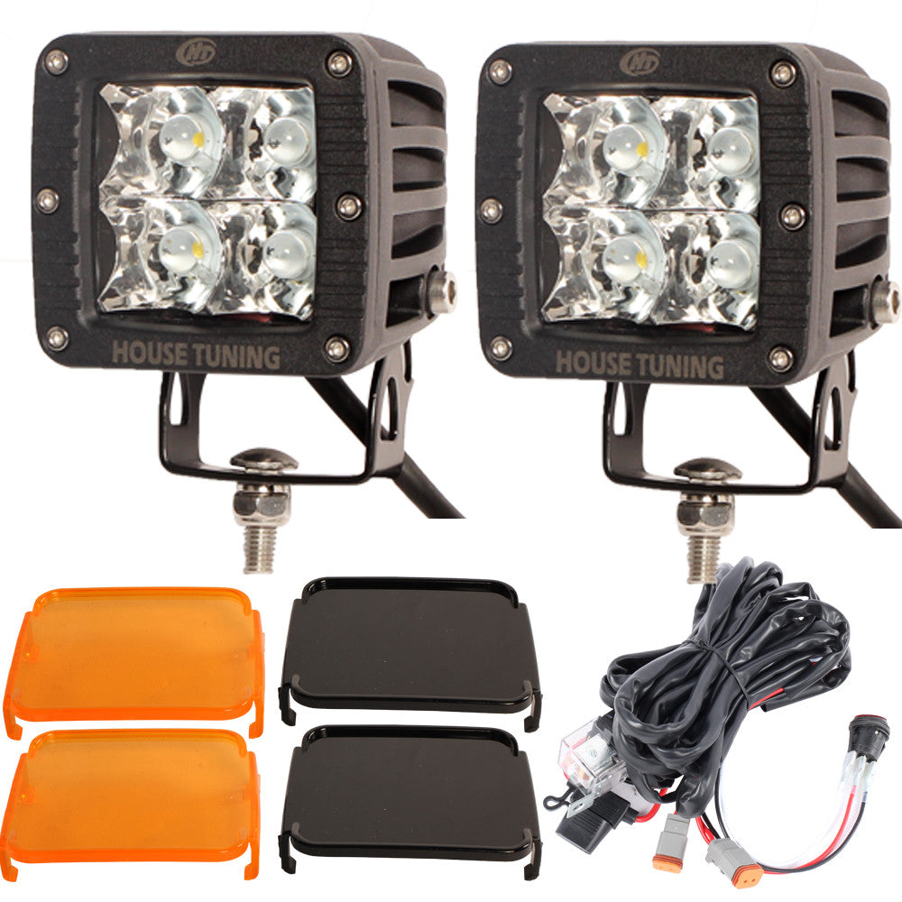 "House Tuning 3x3"" CREE LED 20W Spot Beam Offroad Cube LED work driving Lights(Pack Of 2)"
