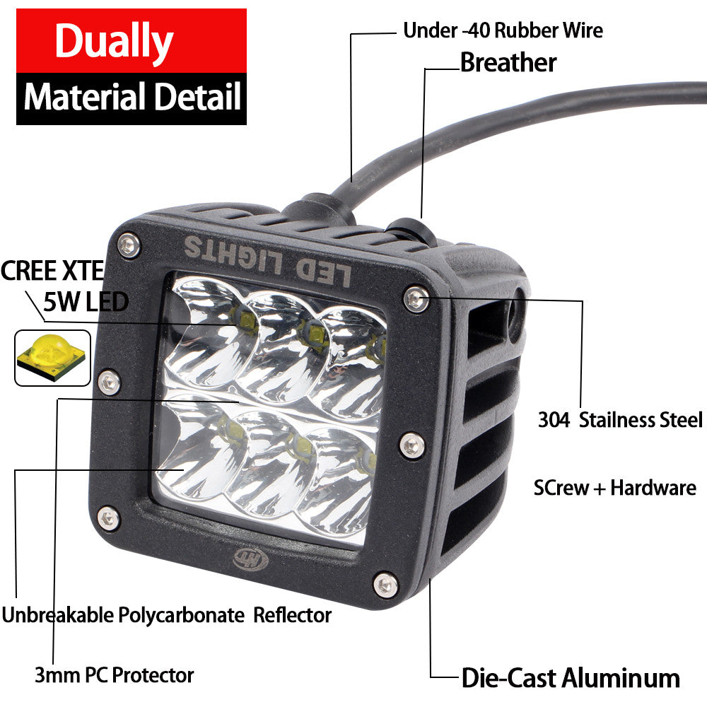 House Tuning 30w 3inch Diffused Flood Beam Cree Led Cube Driving Headlamps Wiring Diagram Light With Switch