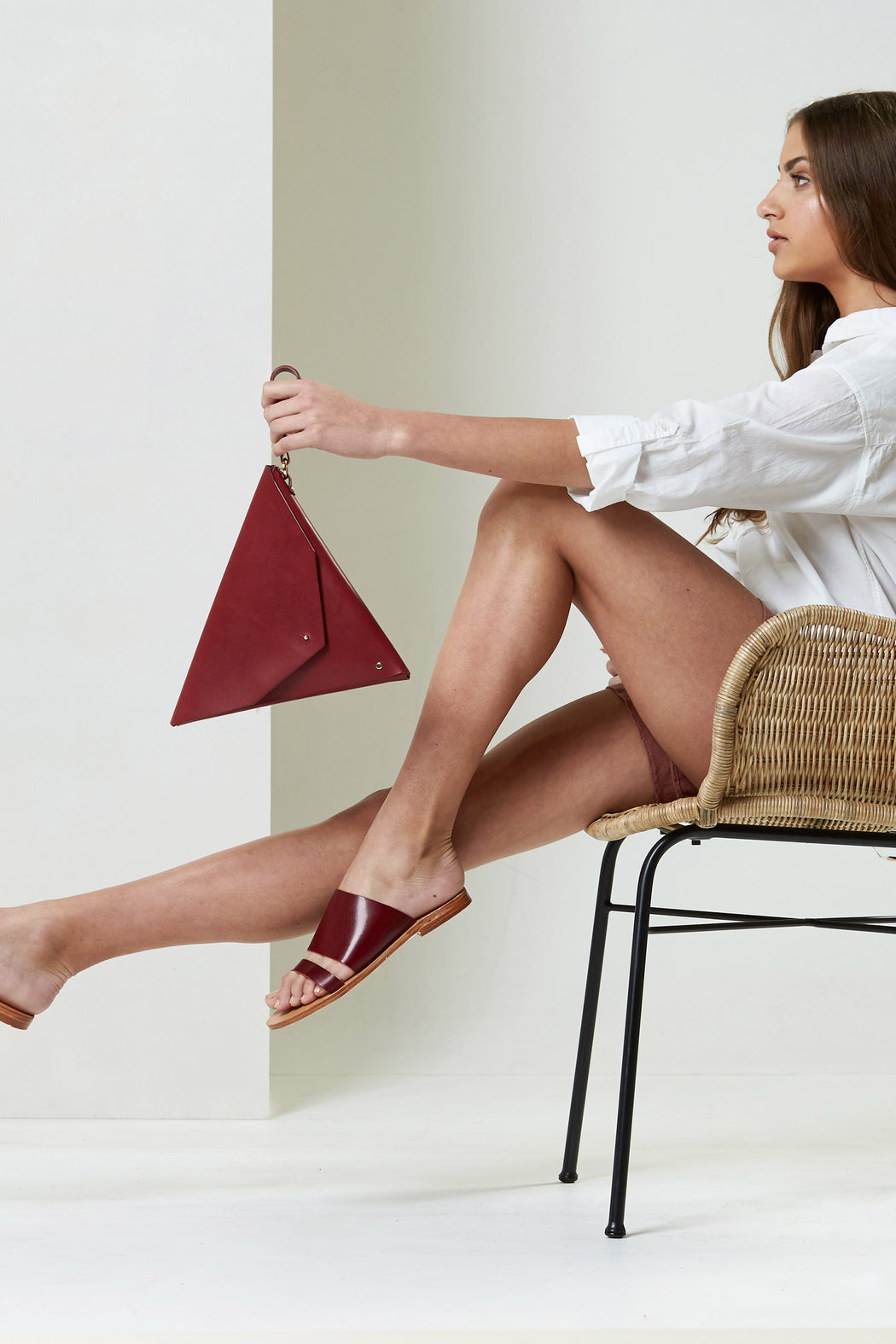 Triangle Clutch Marsala