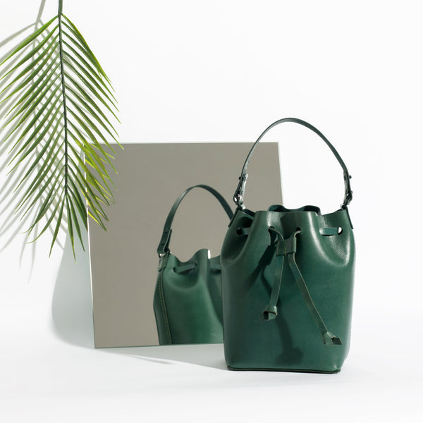 Mini Bucket Bag | Agave Green