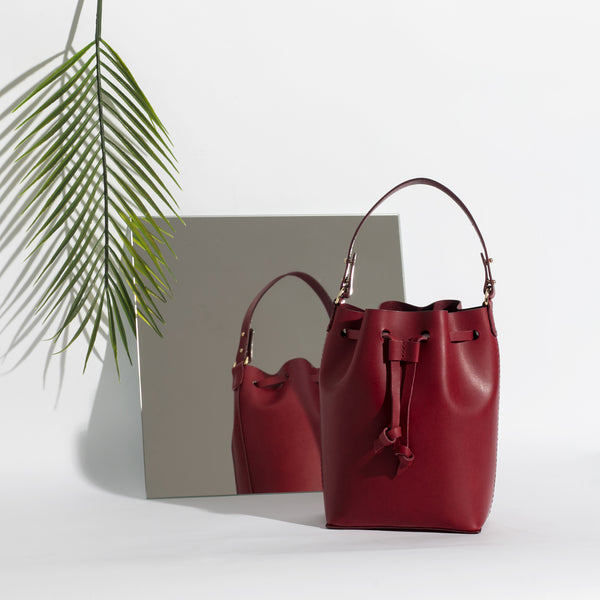 Mini Bucket Bag | Marsala